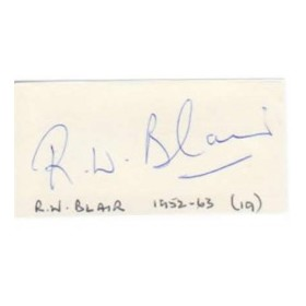 BOB BLAIR CRICKET AUTOGRAPH