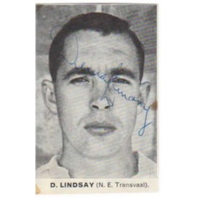 DENIS LINDSAY CRICKET AUTOGRAPH