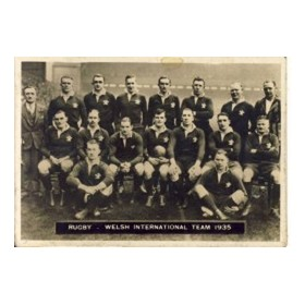 WALES RUGBY XV (1935) CIGARETTE CARD
