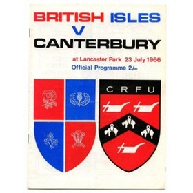 CANTERBURY V BRITISH ISLES 1966 RUGBY PROGRAMME