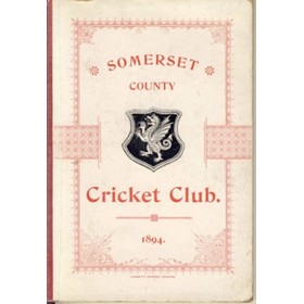 SOMERSET COUNTY CRICKET CLUB 1894–95 (YEARBOOK)