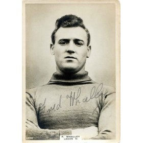 FRED WHALLEY (LEEDS UNITED) SIGNED pinnace card