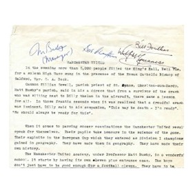 MANCHESTER UNITED 1958 (MUNICH AIR CRASH) - SIGNED BY BUSBY ETC