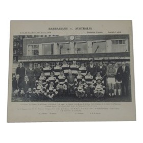 BARBARIANS XV 1976 RUGBY PHOTOGRAPH