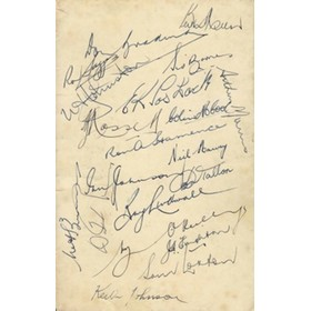 AUSTRALIA CRICKET TEAM 1948 SIGNED CARD