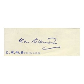 colin atkinson cricket autograph