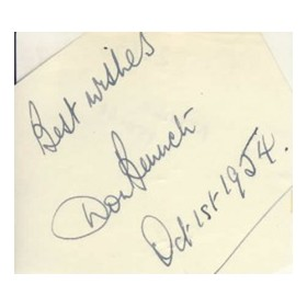 DON BENNETT CRICKET AUTOGRAPH