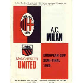 A.C. MILAN V MANCHESTER UNITED 1968/69 (EUROPEAN CUP SEMI-FINAL) FOOTBALL PROGRAMME