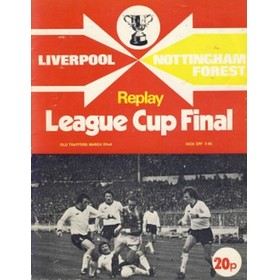 LIVERPOOL V NOTTINGHAM FOREST 1978 (LEAGUE CUP FINAL, REPLAY) FOOTBALL PROGRAMME