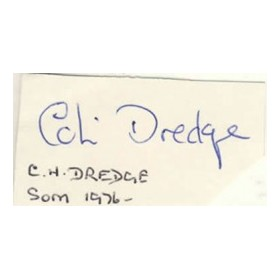 COLIN DREDGE CRICKET AUTOGRAPH