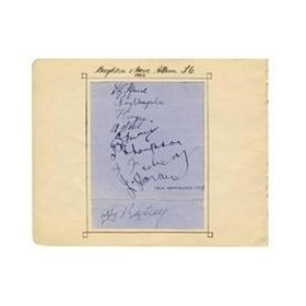 BRIGHTON AND HOVE ALBION 1922 SIGNED ALBUM PAGE