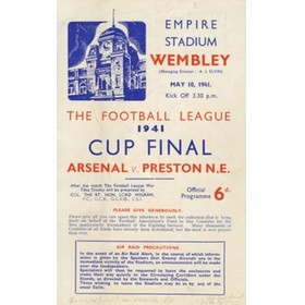 ARSENAL V PRESTON NORTH END 1941 (WARTIME CUP FINAL) FOOTBALL PROGRAMME