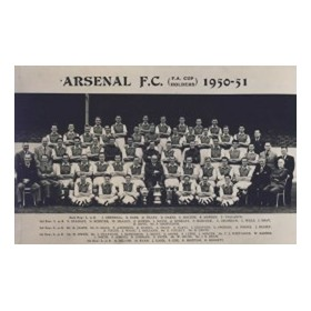 ARSENAL 1950-51 (F.A. CUP HOLDERS) FOOTBALL POSTCARD