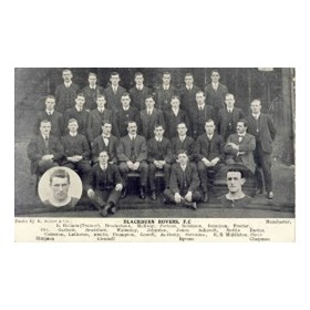 BLACKBURN ROVERS C.1910 FOOTBALL POSTCARD