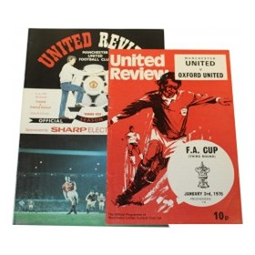 MANCHESTER UNITED V OXFORD UNITED 1975/76 & 1988/89 (F.A. CUP) FOOTBALL PROGRAMME