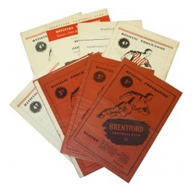 BRENTFORD PROGRAMMES 1947/48 TO 1969/70 (12)