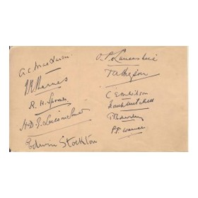 DERBYSHIRE (C.1930) & NOTABLE CRICKETERS (MAINLY LANCASHIRE) signed album page