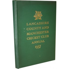 LANCASHIRE COUNTY & MANCHESTER CRICKET CLUB OFFICIAL HANDBOOK 1937