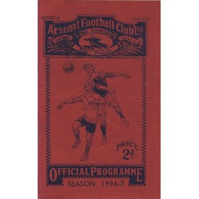 ARSENAL V BIRMINGHAM CITY 1936/37 FOOTBALL PROGRAMME