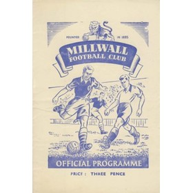 MILLWALL V IPSWICH TOWN 1950/51 FOOTBALL PROGRAMME