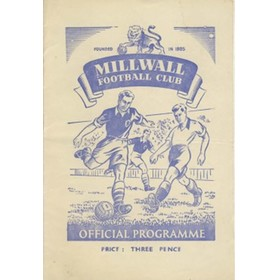MILLWALL V FULHAM 1950/51 (F.A. CUP) FOOTBALL PROGRAMME