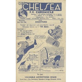 CHELSEA V BRENTFORD 1946/47 FOOTBALL PROGRAMME