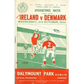 REPUBLIC OF IRELAND V DENMARK 1956 FOOTBALL PROGRAMME