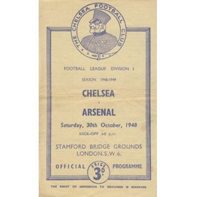 CHELSEA V ARSENAL 1948-49 FOOTBALL PROGRAMME