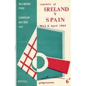REPUBLIC OF IRELAND V SPAIN 1964 FOOTBALL PROGRAMME