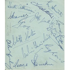 ARSENAL C.1950-51 SIGNED ALBUM PAGE