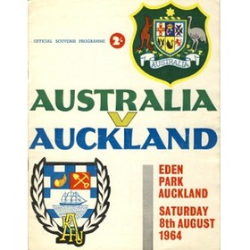 AUCKLAND V AUSTRALIA 1964 rugby programme