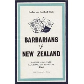 BARBARIANS V NEW ZEALAND 1964 RUGBY PROGRAMME