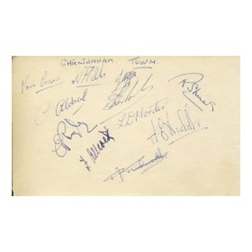 CHELTENHAM TOWN 1950S SIGNED ALBUM PAGE