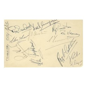 COVENTRY CITY 1956 SIGNED ALBUM PAGE