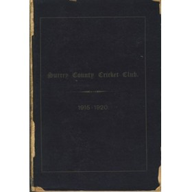 SURREY COUNTY CRICKET CLUB 1920 [HANDBOOK]