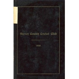 SURREY COUNTY CRICKET CLUB 1928 [HANDBOOK]