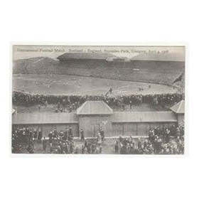 SCOTLAND V ENGLAND 1908 FOOTBALL POSTCARD