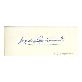 ANDY GANTEAUME CRICKET AUTOGRAPH