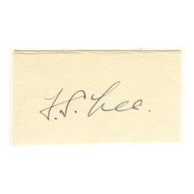 FRANK LEE CRICKET AUTOGRAPH