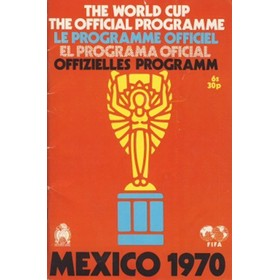 WORLD CUP 1970 (OFFICIAL PROGRAMME)