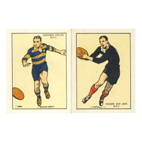 SOUTH AFRICAN RUGBY FOOTBALL CLUBS 1933 - UNITED TOBACCO COMPANIES CIGARETTE CARDS