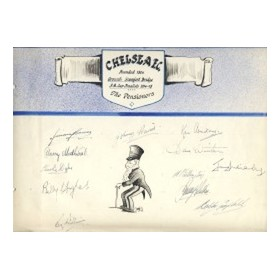 CHELSEA 1947-48 SIGNED SHEET