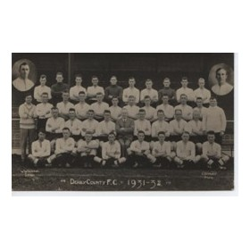 DERBY COUNTY 1931-32 FOOTBALL POSTCARD