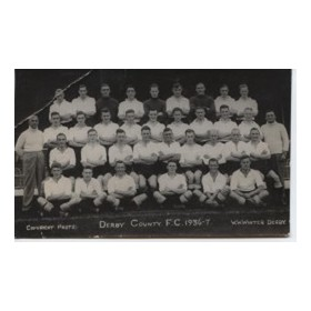DERBY COUNTY 1936-37 FOOTBALL POSTCARD