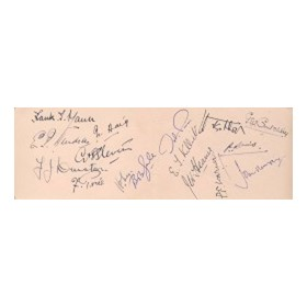 MIDDLESEX 1920S CRICKET AUTOGRAPHS