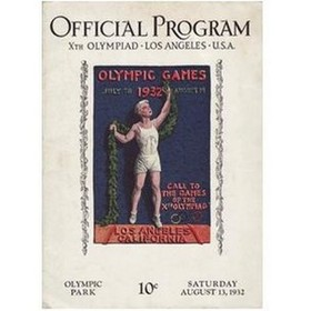 LOS ANGELES OLYMPICS 1932 - 13TH AUGUST OFFICIAL PROGRAM