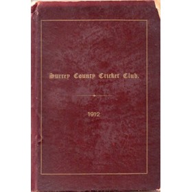 SURREY COUNTY CRICKET CLUB 1912 [HANDBOOK]