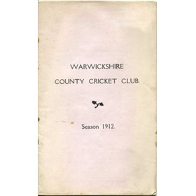 WARWICKSHIRE CCC ANNUAL REPORT 1912