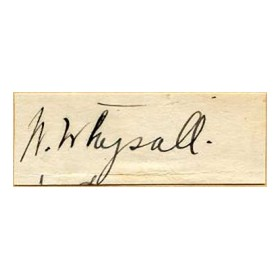 """DODGER"" WHYSALL CRICKET AUTOGRAPH"