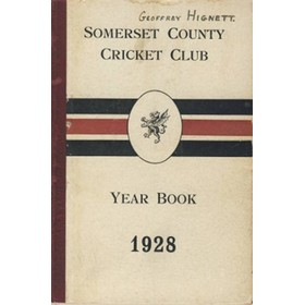 SOMERSET COUNTY CRICKET CLUB YEARBOOK 1928